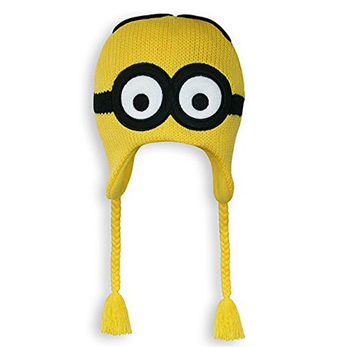 Despicable Me 2 Dave Minion Knit Peruvian Beanie (Yellow)