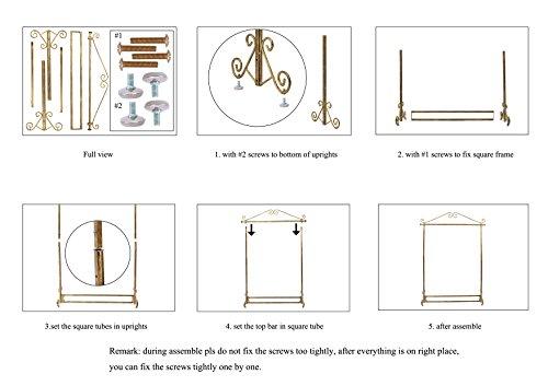 Brand New Free Standing Decorative Antique Bronze Iron Garment Coat Rack (Y002C BRONZE) 4