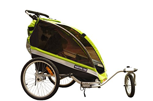 Beautiful Time Beautiful Time Baby Bicycle Trailer Stroller and Jogger 3-in-1 for 1 to 2 Babies - 1