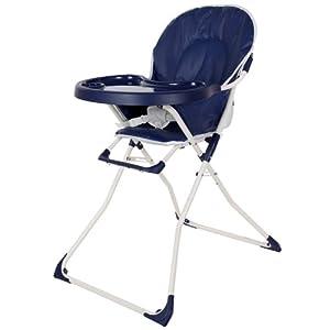 TecTake Trona para niños con bandeja y bebés azul - BebeHogar.com
