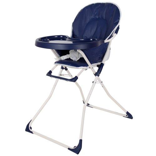TecTake® Kinderhochstuhl Babyhochstuhl klappbar blau