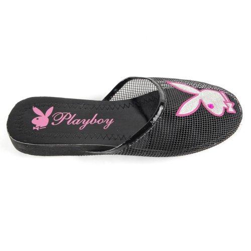 Cheap Women's Playboy Bunny Mesh Slipper Sandals Black , 5-10 (B007O45PSW)