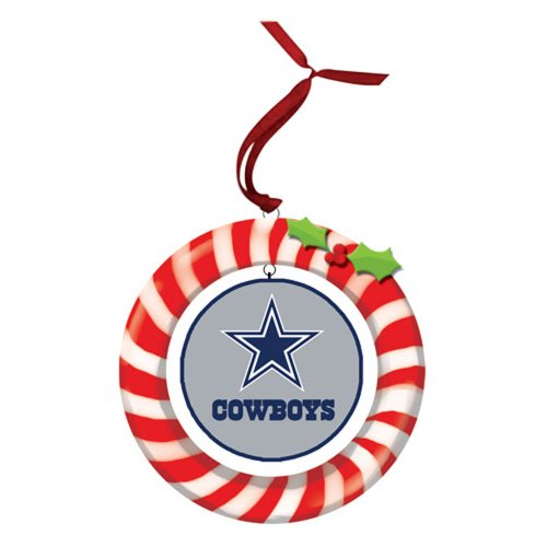 Dallas Cowboys Candy Cane Wreath Ornament at Amazon.com