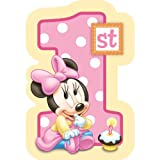 Baby Minnie Mouse 1st Birthday Invitations 8 Pkg Disney Invites Party