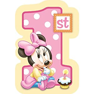 Baby Minnie Mouse 1st Birthday Invitations 8 Pkg Disney