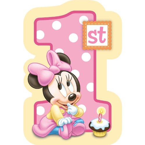 Baby minnie mouse 1st birthday invitations 8 pkg disney invites baby minnie mouse 1st birthday invitations 8 pkg disney invites partyb008qftqce filmwisefo