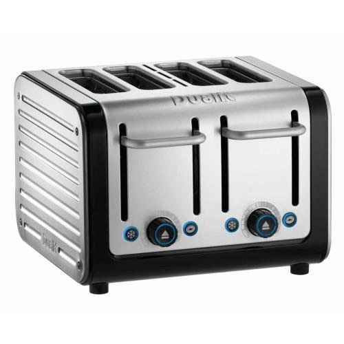 Dualit Architect Brushed Stainless Steel 4-Slot Toaster, Black