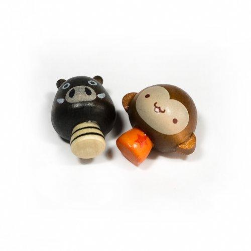 [Mini Pig & Monkey] - Refrigerator Magnets / Animal Magnets front-407896