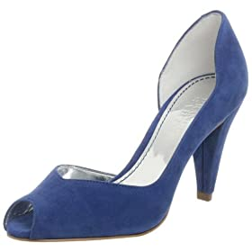 Endless.com: Franco Sarto Women's Chili D'orsay Peep Toe Pump: Categories - Free Overnight Shipping & Return Shipping :  blue pumps peep toe pumps pumps blue shoes