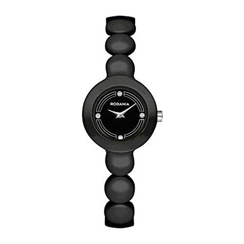 RODANIA Women's Liberty Smart Black Ceramic Band & Case Quartz Analog Watch 26158.46