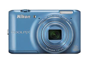 Nikon COOLPIX S6400 16 MP Digital Camera with 12x Optical Zoom and 3-inch LCD (Blue)