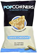 Medora Snacks Popcorners Natural Popped Corn Chips 11-Ounce Package White Cheddar Flavor