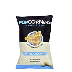 Popcorners Natural Popped Corn Chips 1.1-Ounce Package, White Cheddar Flavor (Pack of 8)