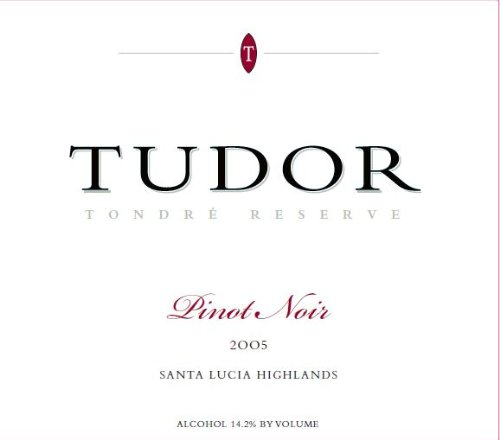 2005 Tudor Wines Tondre Reserve Santa Lucia Highland Pinot Noir 750 Ml