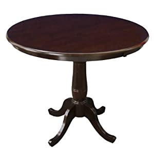 International Concepts 36 Inch Round By 36 Inch High Top Ped Table Rich Mocha
