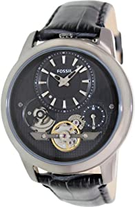 Fossil Grant Twist Leather Watch - Grey Me1126