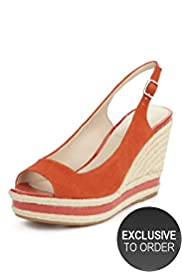 Autograph Suede Peep Toe Espadrille Wedge Shoes with Insolia®