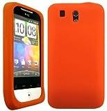 Wayzon Orange HTC Legend A6363 G6 Case Cover Skin Pouch Shell Plain Silica Rubber