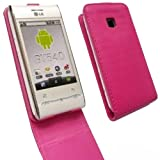 Flip Skin Cover Case For LG Optimus GT540 / Pink
