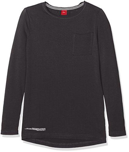 s.Oliver Mit Vertikalem Printverlauf, T-Shirt Bambino, Grau (Dark Grey Melange 9898), 16 Anni