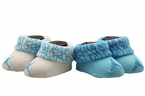 Nike Air Jordan Jumpman Newborn Baby Booties Turquoise White, Size 0-6 Months. front-748347