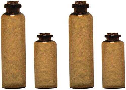 7Gypsies 4-Piece Apothecary Bottles, Amber front-710244