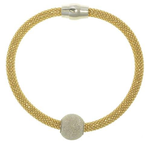 Modern 925 Sterling Silver Women Popcorn Magnetic Clasp Bracelet - 7.1 Inch*4Mm, 13 Grams