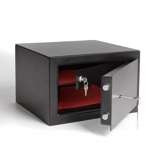 Homelux FS38B-2 Möbeltresor der Sicherheitsstufe B mit extra Innentresor und Außenmaß (H x B x T): 25,5 x 39,5 x 38 cm