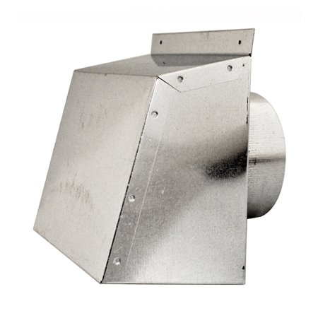 Aldes Galvanized Exhaust Wall Hood with Bird Screen (no damper) for 4