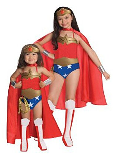 Rubie's Little Girls' Deluxe Wonder Woman Costume