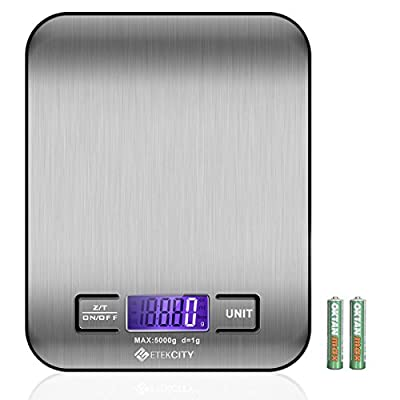 Etekcity 11lb/5kg Digital Multifunction Stainless Kitchen Food Scale