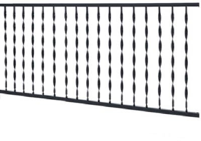 GILPIN IRONWORKS 573 4' Black Windsor Rail (Wrought Iron Railing For Steps compare prices)