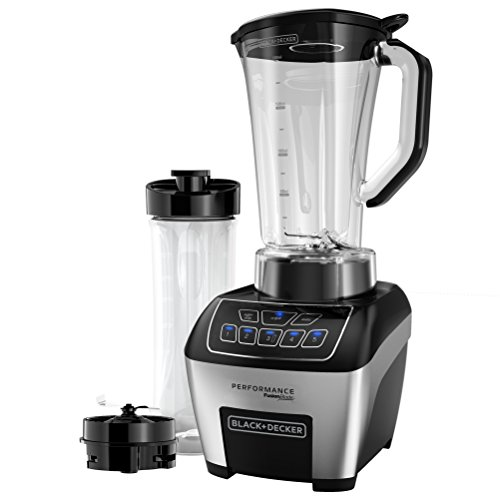 BLACK+DECKER BL6010 Performance FusionBlade Digital Control Blender with 64 Ounce BPA Free Jar and 20 Ounce Portable Personal Blender Jar, Stainless Steel Blender (Personal Blender Black And Decker compare prices)