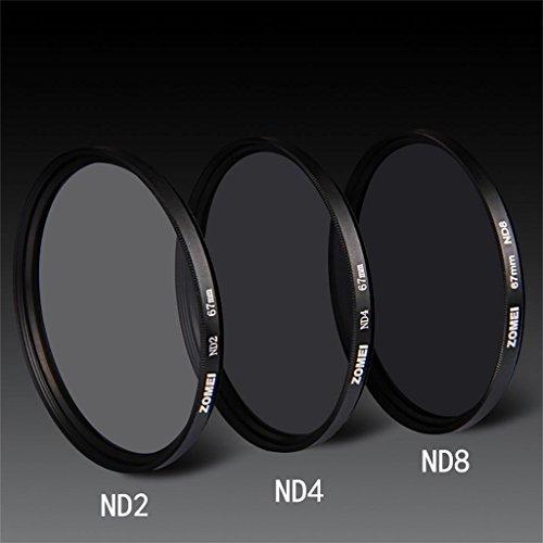 DELLT- Densité moyenne Mirror 52/55/58/62/67/72 / 77MM ND4 Dimmer ( taille : 55mm )