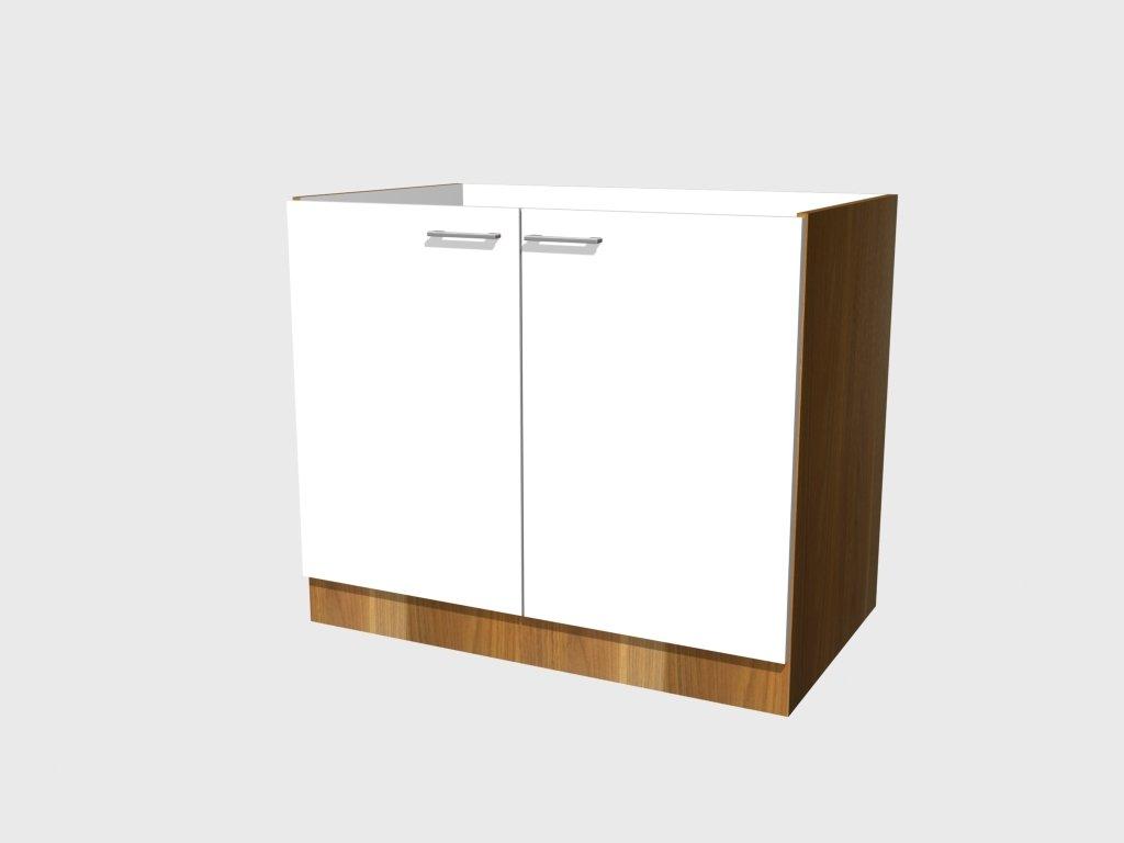 sp lenunterschrank como 100 cm ohne arbeitsplatte gl nzend weiss nussbaum dekor kundenbewertungen. Black Bedroom Furniture Sets. Home Design Ideas