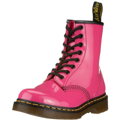 Dr. Martens Women's 1460 Originals 8 Eye Lace Up Boot,Hot Pink Patent Lamper,5 UK (7 M US Womens)