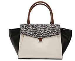 Vince Camuto Lonni Satchel Black and White