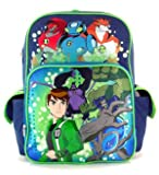"16"" Ben 10 Ultimate Alien 7 Character Large Backpack"