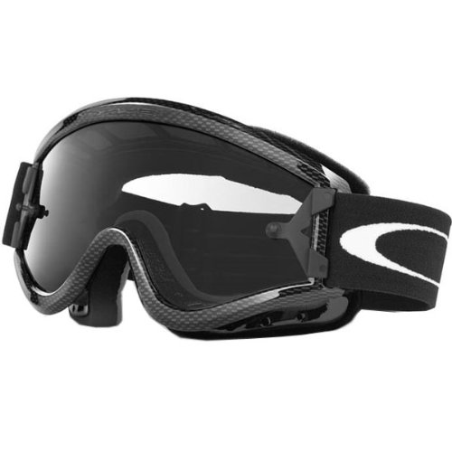Oakley MX L Frame Adult Dirt Off-Road Motorcycle Goggles Eyewear - Carbon Fiber/Clear / One Size Fits All (Motorcycle Carbon Fiber Mask compare prices)