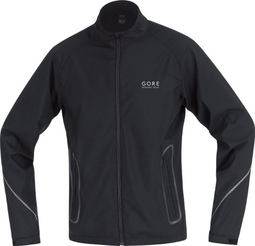 Gore Running Wear Mens Essential Jacket - Black, Small