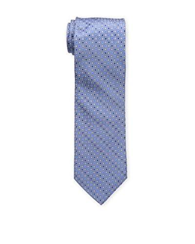 Bruno Piattelli Men's Classic Neat Tie, Blue