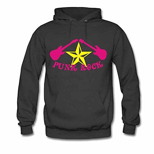 Punk Rock Star Hooded Sweatshirt Women's Hoodies L