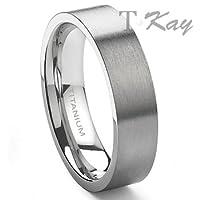 Titanium 6mm Wedding Band Ring