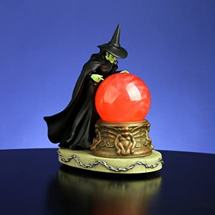 "9.5"" Animated Wizard of Oz ""Wicked Witch Crystal Ball"" Water Globe Glitterdome"