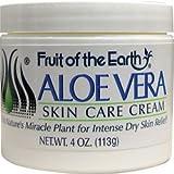 Aloe Vera Skin Care Cream 4 oz Cream by Fruit of the Earth