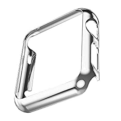 Apple Watch Case,Biaoge Super Thin PC Plated Plating Protective Bumper Case for Apple Watch 42MM (PC Case Silver 42mm)