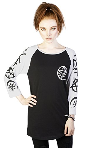 Disturbia Clothing -  Maglia a manica lunga  - Donna nero X-Large