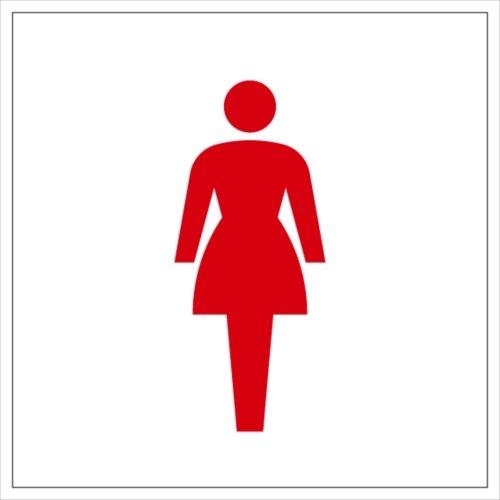 トイレ(女性用) ステッカー シール 15cm×15cm