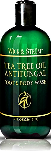 Antifungal Soap w/ Tea Tree Oil & Active Ingredient Proven Clinically Effective in Athletes Foot, Jock Itch & Ringworm Treatment. Helps Body Acne & Odor
