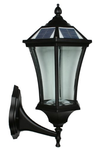 Large Outdoor Solar Powered Led Wall Light Lamp Sl-7407